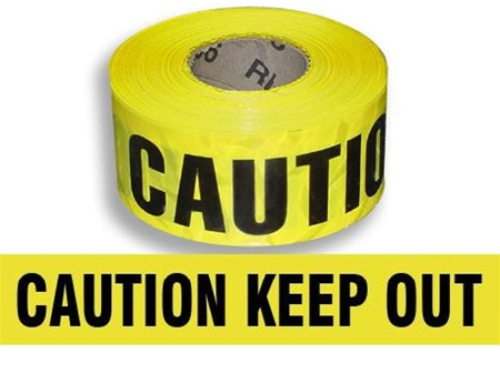 CAUTION KEEP OUT Barricade Tape (3 Mil)